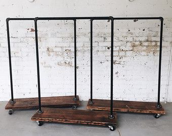 Rustic Industrial Reclaimed Wood Rolling by TylerKingstonWoodCo
