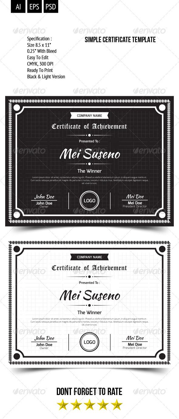 47 best certificate design images on pinterest a3 certificate simple certificate template xflitez Choice Image