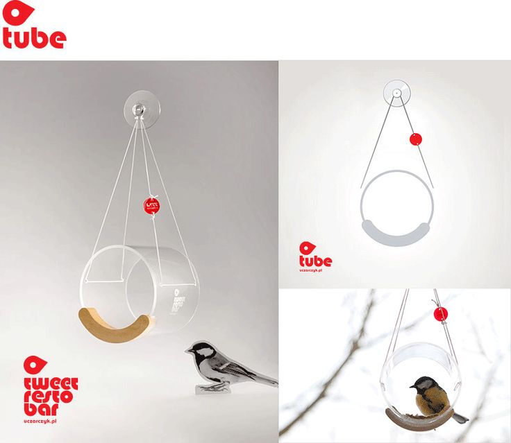 TWEET RESTO BAR from Uczarczyk model: TUBE.  Transparent, hanging window bird feeders, innovative and modern. Suitable ONLY for small birds like: sparrows, titmoueses, grosbeaks etc. https://www.etsy.com/listing/217325992/bird-feeder-hanging-bird-feeder-window?ref=listing-shop-header-1