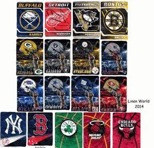 NFL team blankets.  www.mylinenworld.com/sarahbendt