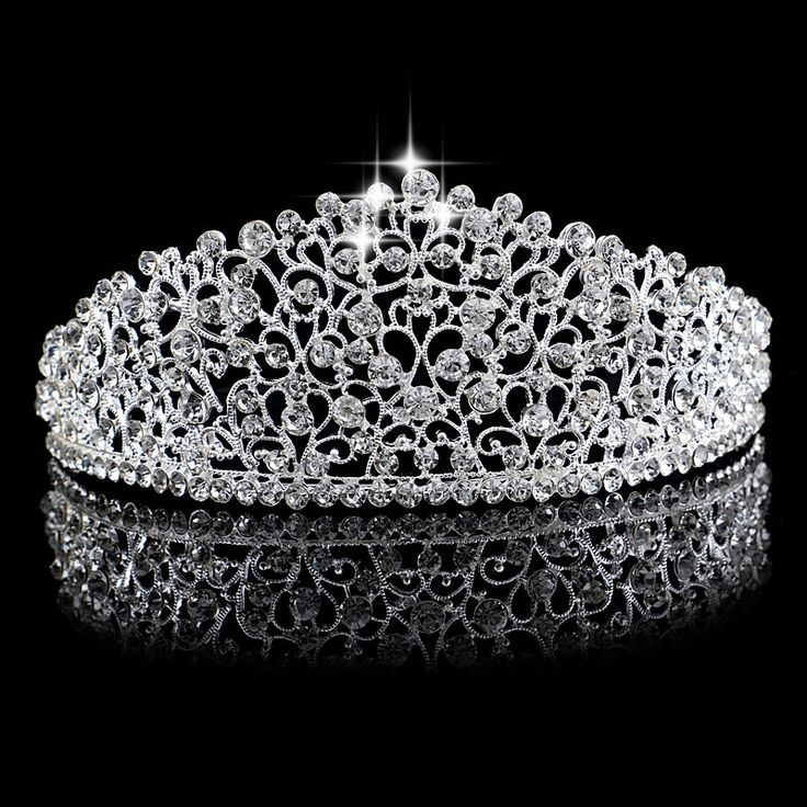 Herrlich Funkelnden Silber Große Hochzeit Diamante Festzug Diademe Hairband Kristall Braut Kronen Für Bräute Haarschmuck Kopfschmuck