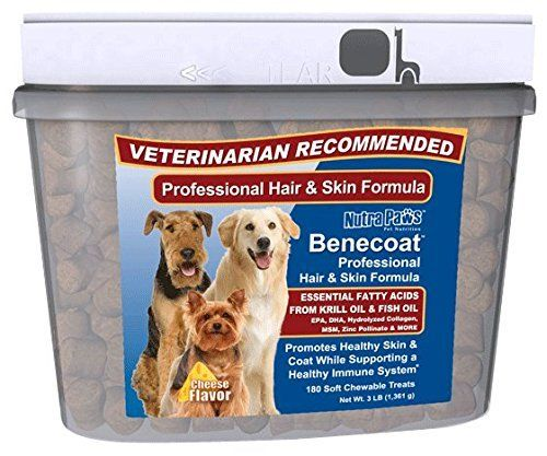 Value Size Benecoat Fish Oil for Dogs with Krill Oil, EPA, DHA, Collagen, MSM and Zinc Picolinate | 180ct ** New and awesome dog product awaits you, Read it now  : Dog supplies for health