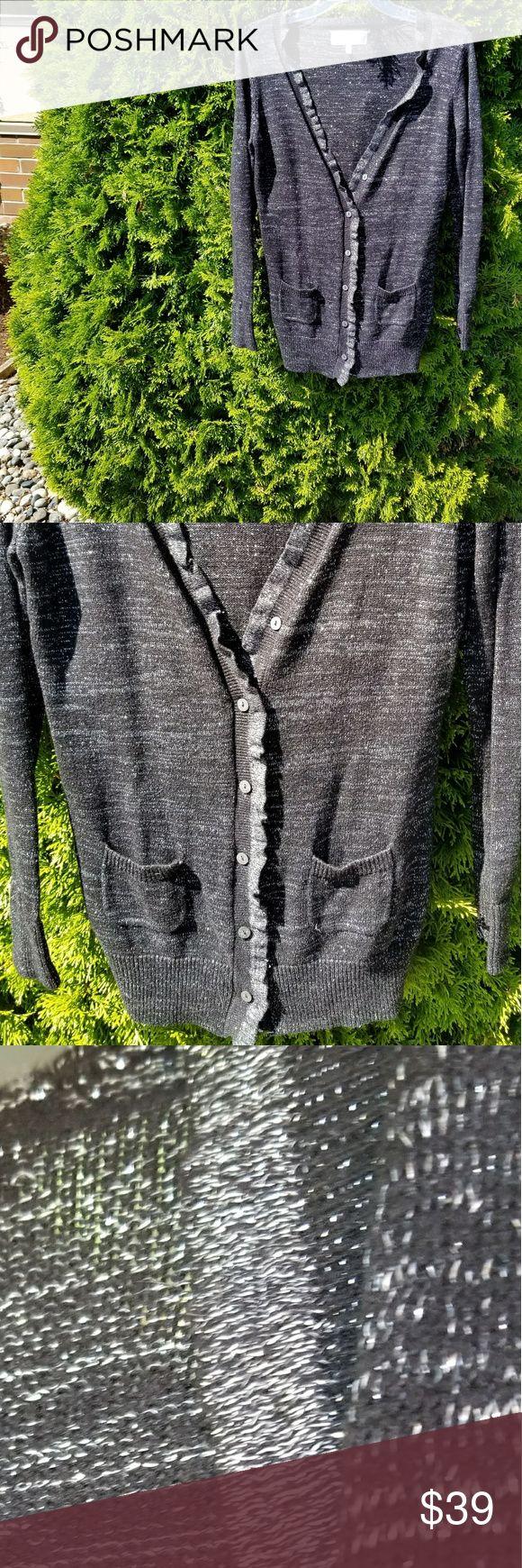 Victoria's Secret Metallic Cardigan In very good condition. PINK Victoria's Secret Sweaters Cardigans