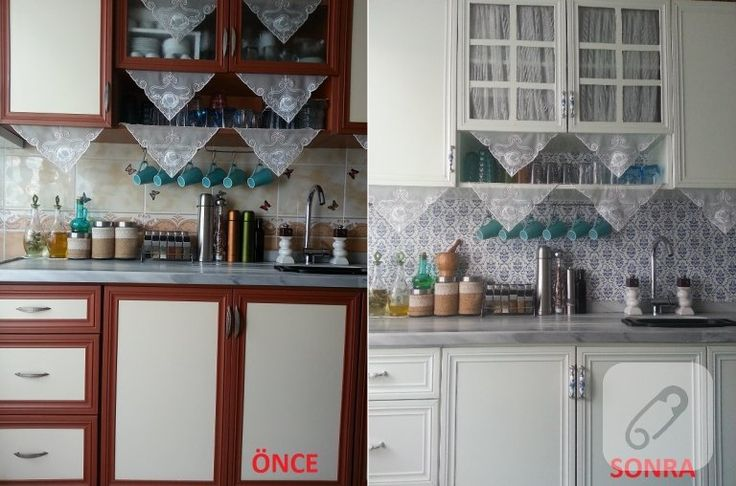 Mutfak yenileme örneklerinin en başarılı olanlarından biri. öncesi sonrası fotoğraflarına bakarak anlayabilirsiniz. önce boyanmış, dolapların kulpları ve yerin fayansları....