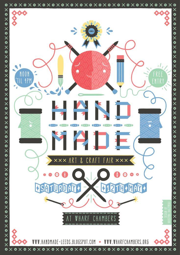 Hand Made craft fair poster