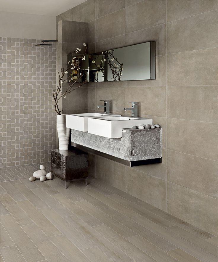 Betonlook tegel in Sabbia tint. Deze serie bestaat uit prachtige grijstinten, die onderling heel mooi gecombineerd kunnen worden (tegels, 19) Tegelhuys