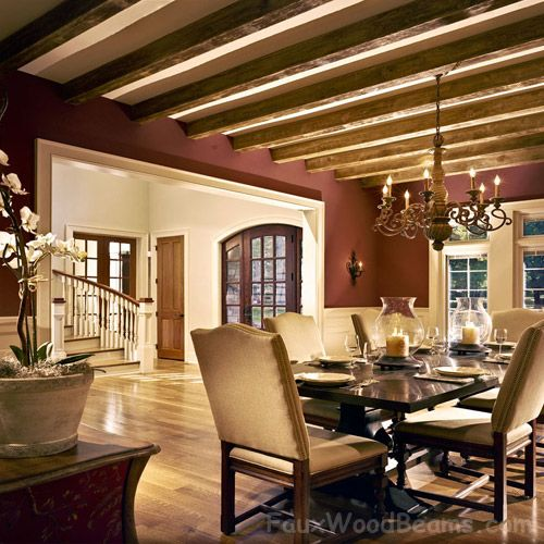34 Best Images About Design Ideas - Dining Rooms With Faux Wood