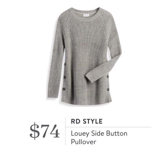 RD Style Louey Side Button Pullover - Stitch Fix