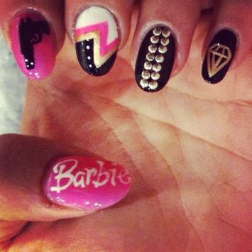 Barbie Nails: Bad Barbie, Nails Art, Barbie Nails, Nails Design, Nails Tho, Beautiful, Best Nails, Nails It3, Barbie Mixed