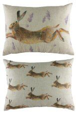Leaping Hare Reversible Cushion http://www.abentleycushions.co.uk/detail.asp?pID=7930