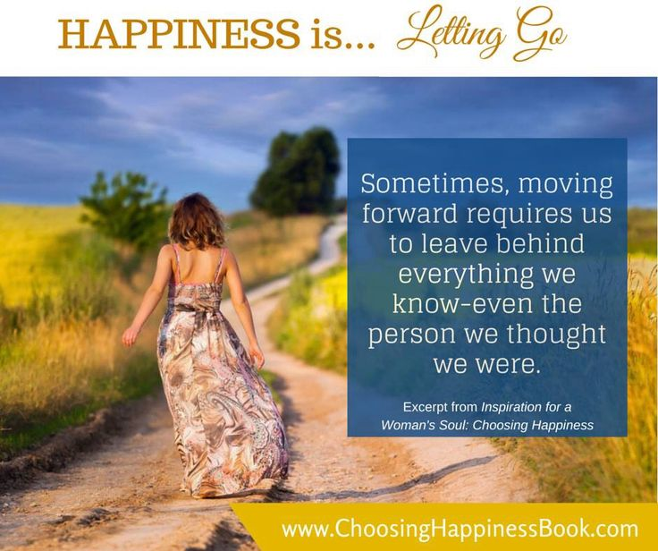 Day 91: Happiness is... letting go!