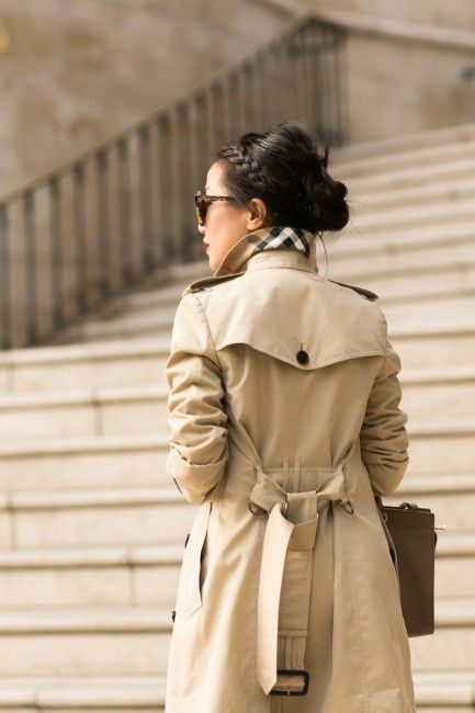 Burberry trench thanks to my-wardrobe.com! Bag :: Yves Saint Laurent Shoes :: Christian Louboutin  Accessories :: Karen Walker sunglasses, J.Crew bracelet, Gorjana ring, Guerlain 'Habit Rouge 123′ lip color, Deborah Lippmann 'Stop and Stare' #SoukinaK