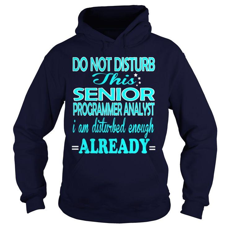 Senior programmer analyst do not disturb this i am