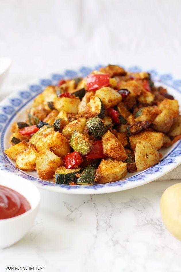 Super knuspriges Kartoffel - Zucchini - Gemüse aus dem Ofen