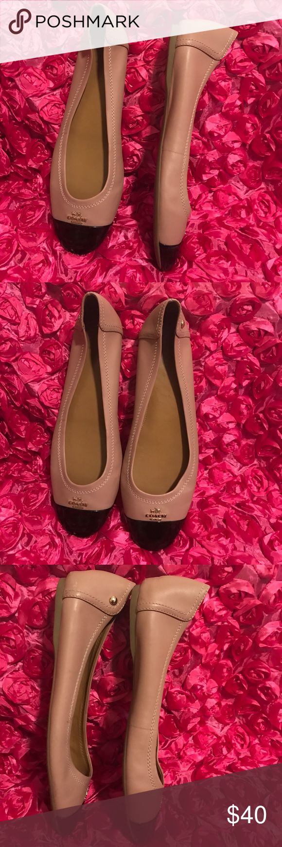 Women's coach flats Good condition please look the pictures little scuff Coach Shoes Flats & Loafers