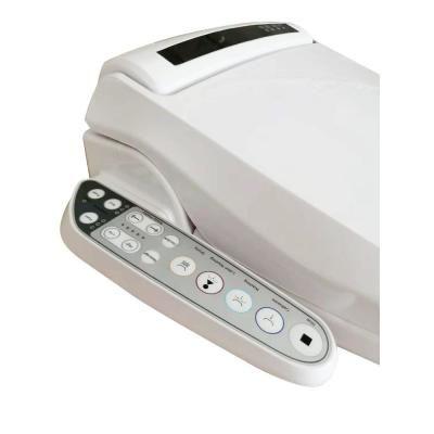 7 3 In Electric Smart Toilet Seat Bidet Attachment In White
