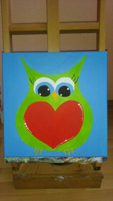 Owl, Acrylic, 30x30