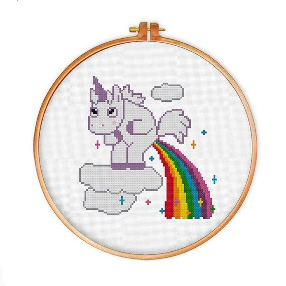 Hey, I found this really awesome Etsy listing at https://www.etsy.com/listing/240339205/unicorn-pooping-rainbow-cross-stitch