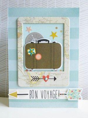 Bon voyage card Get your scrapbook supplies at allscrapbooksteals.com
