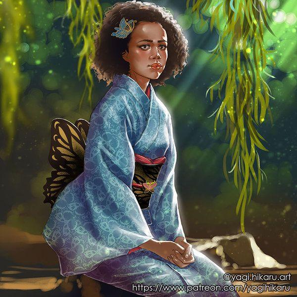 Missandei Kimono Of Naath By Https Yagihikaru Deviantart Com On Deviantart Game Of Thrones Art Fan Art Game Of Thrones