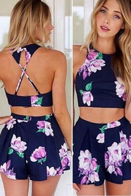 Navy Floral Two Piece Set                                                                                                                                                      More
