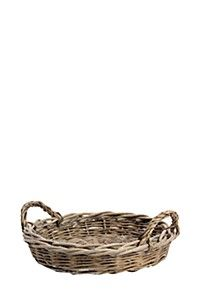 ROUND WILLOW TRAY WITH HANDLES