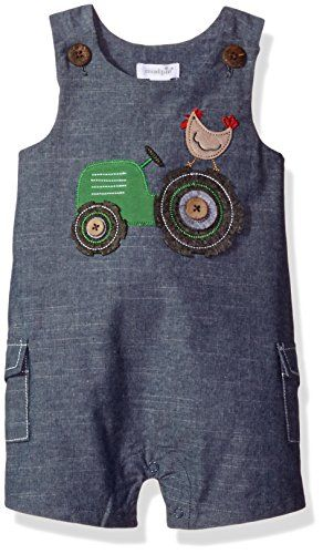 Mud Pie Baby Boys Shortall One Piece Chambray 1218 Months >>> Click image for more details.Note:It is affiliate link to Amazon.