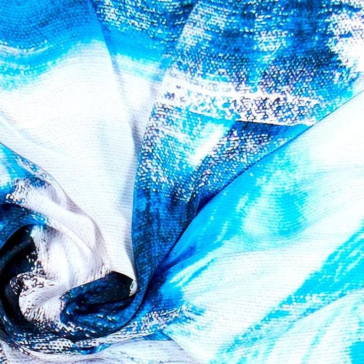 ANTORINI Silk Scarf in Blue and White