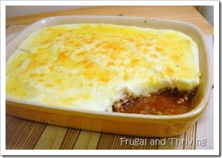 A different take on an old classic - cottage pie with kangaroo mince and topped with cauliflower puree.