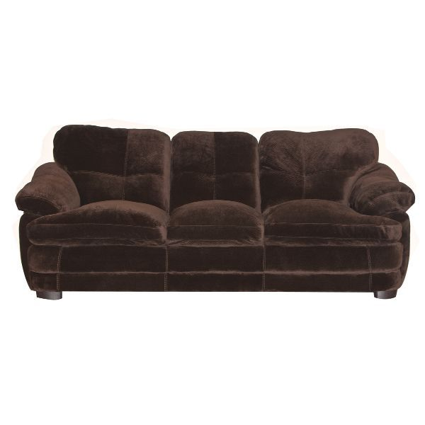 Broncochocolateso bronco 90 chocolate brown microfiber for Chocolate brown microfiber sectional sofa