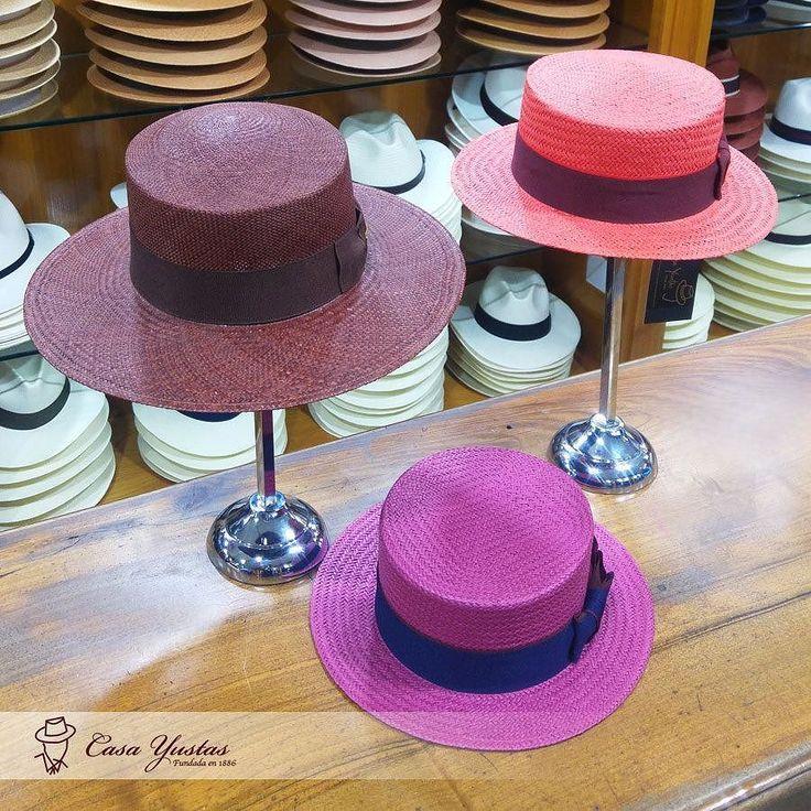 Nueva Colección de Primavera/Verano en Casa Yustas! DORINE Sombrero Canotier (Coral y Lila) URCAL Sombrero Panamá (Café) #hat #sombrero #hatoftheday #style #hatters #inspiracion #clasico #accesories #fashion #moda #complemento #accesorios #meencanta #verano #Canotier #SombreroPanamá #PanamaHat