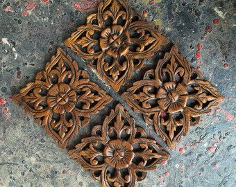 Large Hand Carved Wall Art Panel From Thailand. By SiamSawadee Part 62