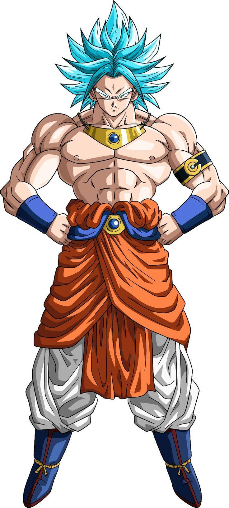 Broly ssj dios azul