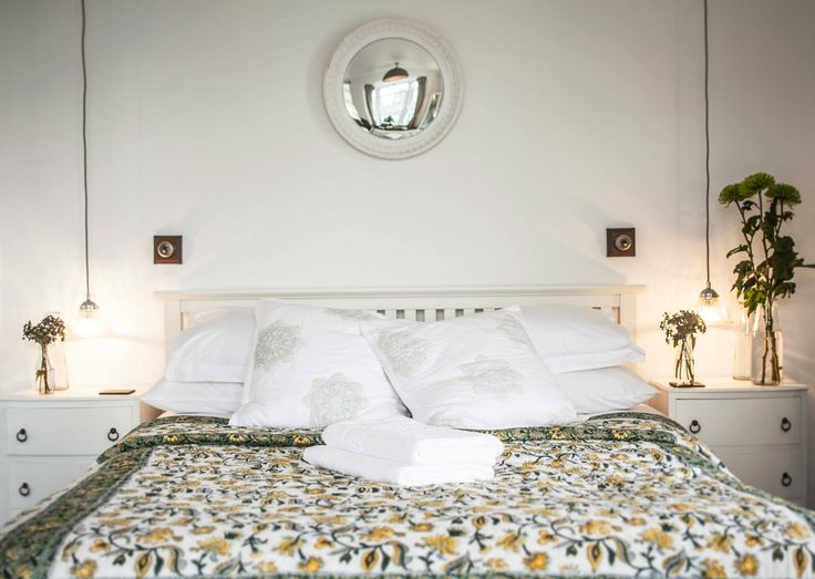 Luxury white bedroom Indian bedspread White bedside cabinets  thecuttlefishmousehole@gmail.com
