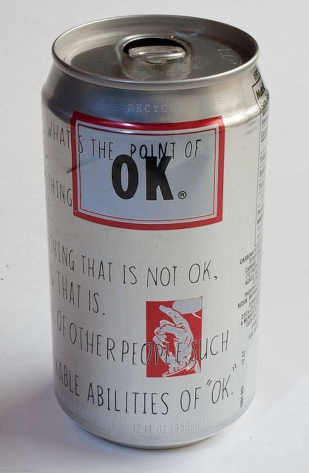 """It even had it's own """"OK Manifesto,"""" that include statements like """"What's the point of OK? Well, what's the point of anything?"""" and """"There is no real secret to feeling OK."""" 