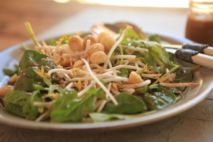 Crunchy Asian Greens Salad #tenina #thermomix #vegetarian #newbook #raw #glutenfree #vegan #dairyfree