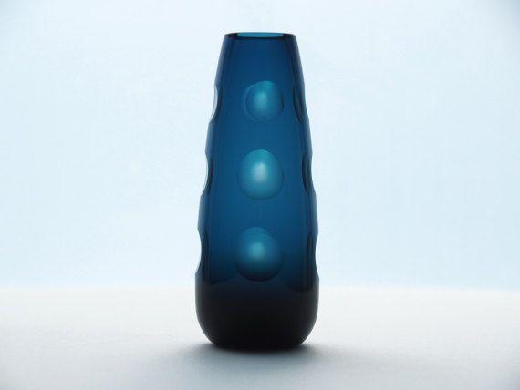 FRIEDRICH GLAS Op-Art Vase Westdeutschland von BetterLookBack