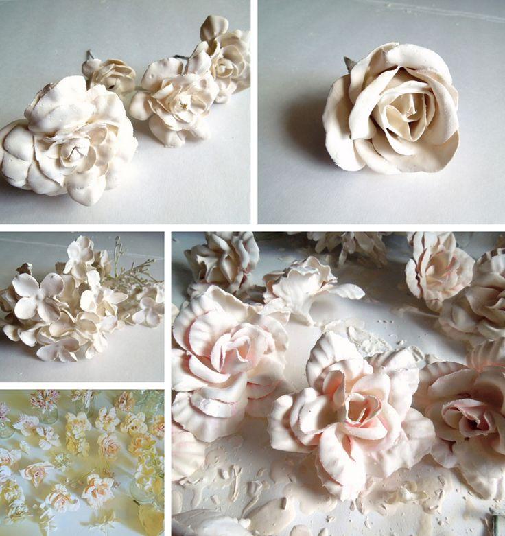 Charming DIY Plaster Dipped Flower Votives