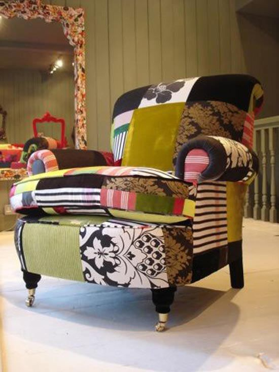 Patchwork chair upholstery