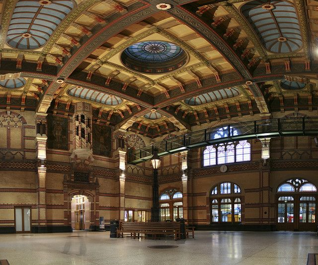 Inside the Central Station of Groningen. So nicely renovated.