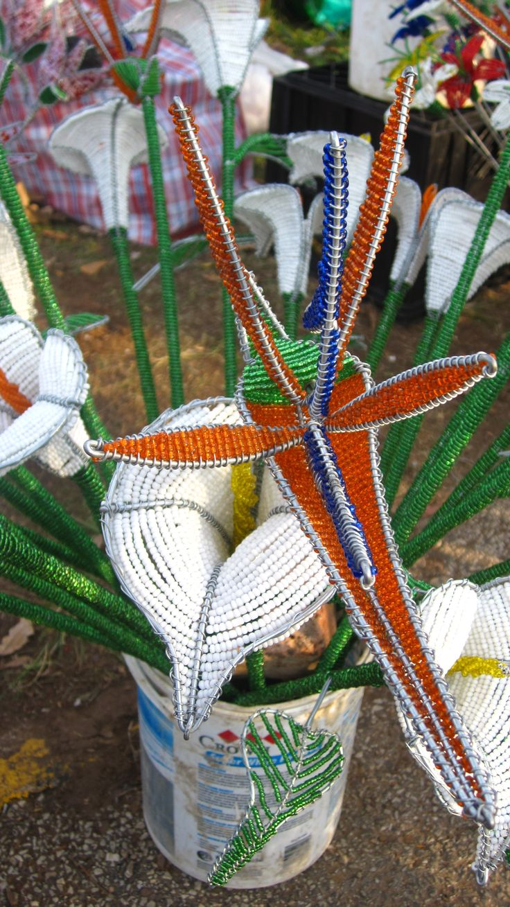Bead Flowers - South Africa. BelAfrique - Your Personal Travel Planner - www.belafrique.com