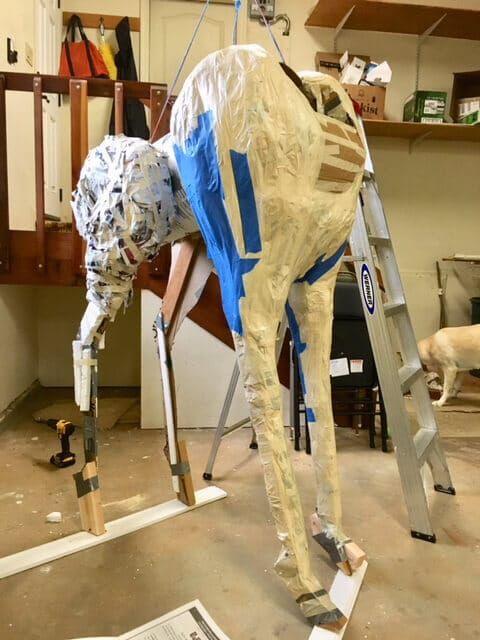 Life-Sized Paper Mache Giraffe | Ultimate Paper Mache | Cardboard