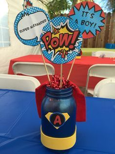 Image result for superhero baby shower favors