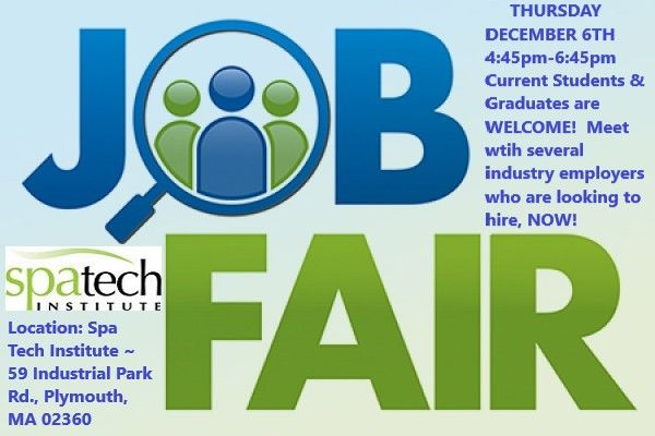 Calling All Spa Tech Current Students Graduates Please Join Us Tomorrow For Our Job Career Fair At The Spa T Game Tester Jobs Job Career Video Game Design