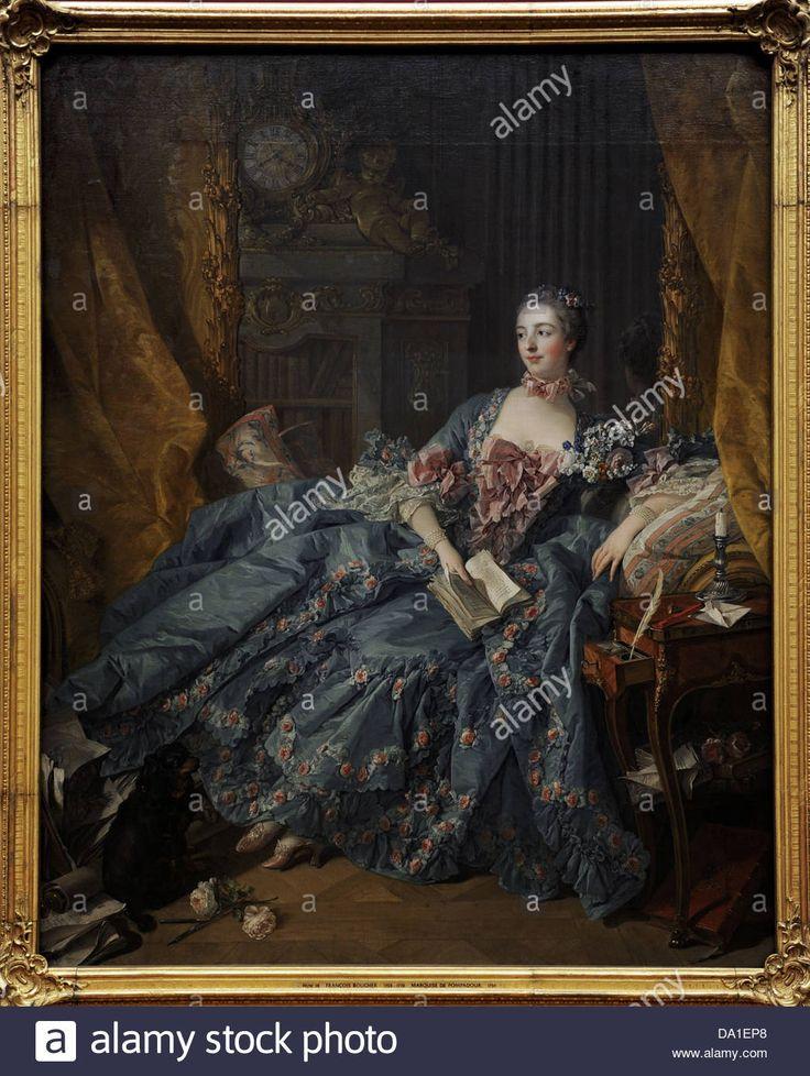 Francois Boucher (1703-1770). French painter. Madame Pompadour, 1758. Alte Pinakothek. Munich. Germany. Stock Photo
