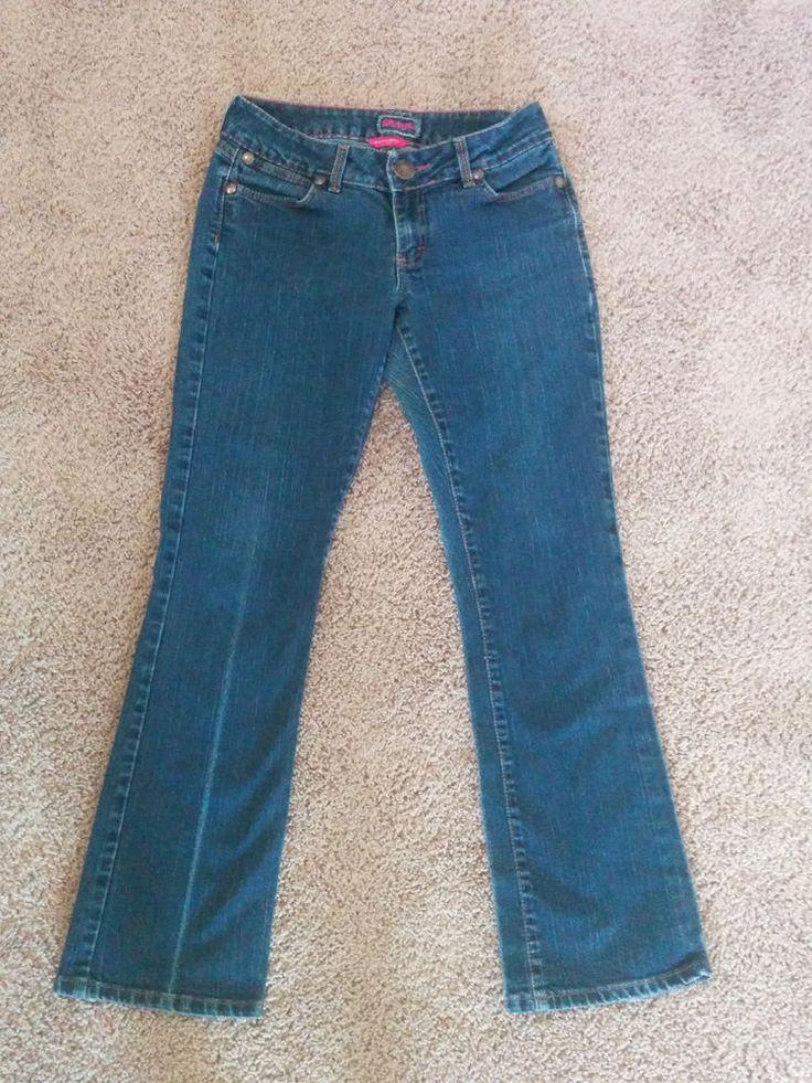 Wrangler Premium Patch ladies boot cut blue jeans pants, 7/8 x 32, #3862 #Wrangler #BootCut