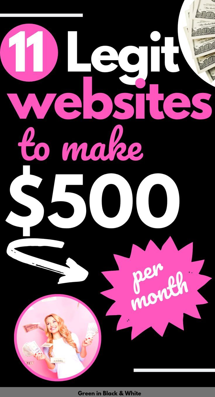 11 legit websites to make $500 a month Want to make extra cash quick? Make mone… – How to make money