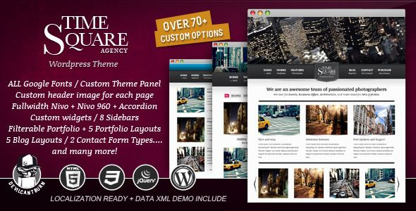 TimeSquare - Premium Wordpress Theme
