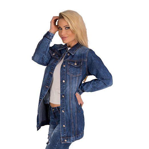10183 Fashion4Young Lange Damen Jeansjacke Damenjacke Leichter Jeans-Parka Jeans Jacke Parka (blau, S=36):   - Jeansjacke frauen jeansjacken damen jeans outfit jeans sommer jeansjacke damen jeansjacke kombinieren mode frauen alltag übergangsjacke jacke frühling sommerjacke sommer mode frauen frühling mode herbst fashion frauen frühling fashion style mode style mode outfit -