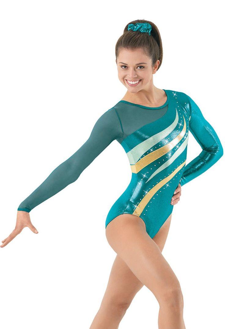 Single Long Mesh Sleeve Gymnastics Leo | Balera™                              …
